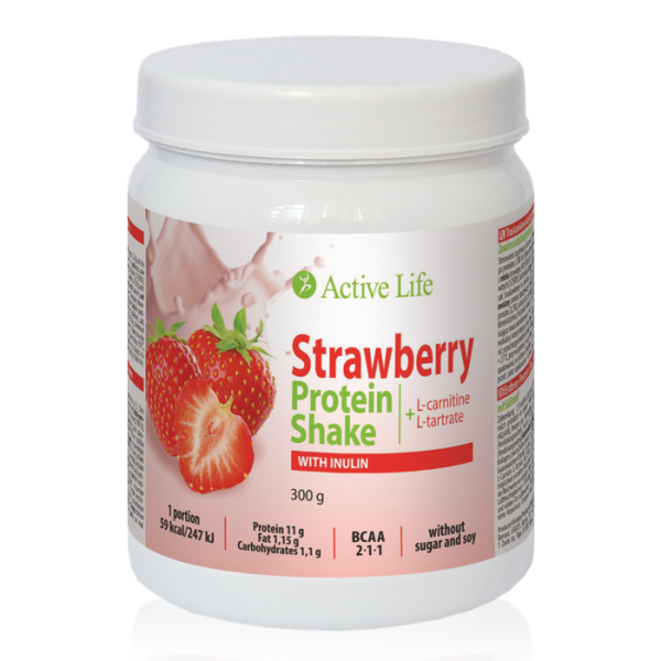Strawberry Protein Shake with Inulin with sweetener