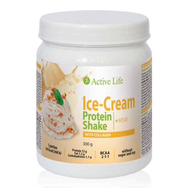 Ice-Cream Protein Shake with Collagen with sweetener
