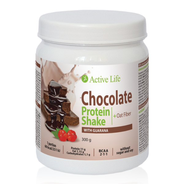 Chocolate Protein Shake with Guarana with sweetener