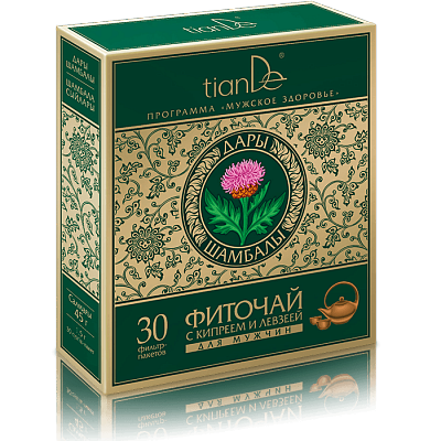 Herbal tea with epilobium and maral root for men